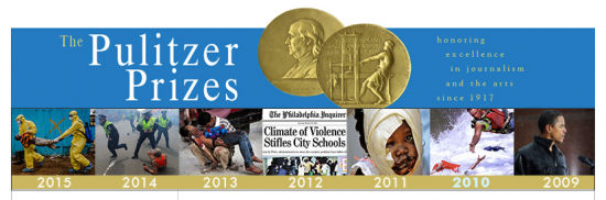 Screenshot courtesy of the Pulitzer Prize website.