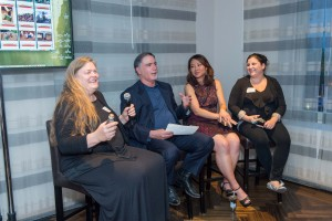 From left to right: Judy Walgren, Phil Bronstein, Irene Noguchi, and Cristi Hegranes (photo credit, Susana Bates/Drew Altizer Photography).