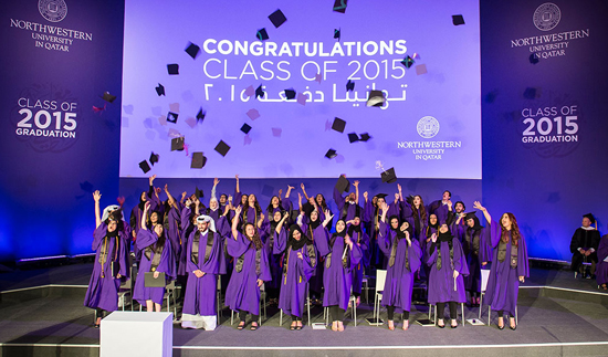Graduating class of 2015 at Northwestern University in Qatar