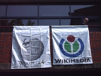 http://www.pbs.org/mediashift/Wikipedia_and_Foundation_Flags