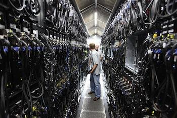 Photo of Microsoft data center by Robert Scoble via Flickr.