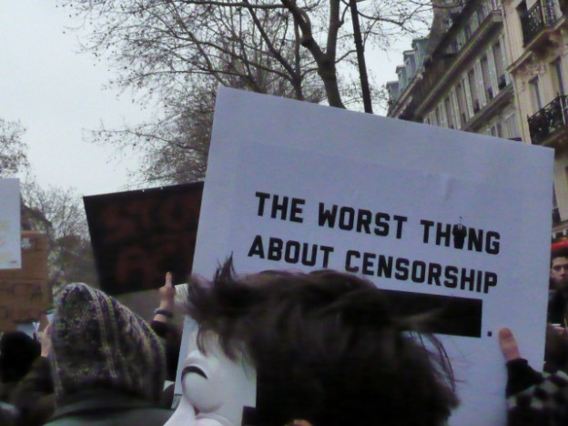 """The worst thing about censorship [blank]"""