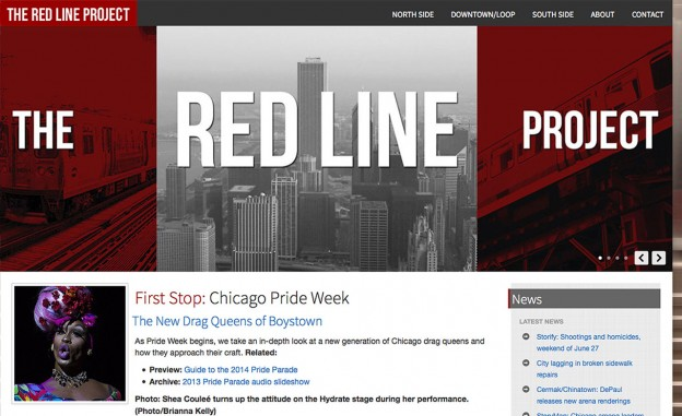 Screenshot of DePaul University's Red Line project.