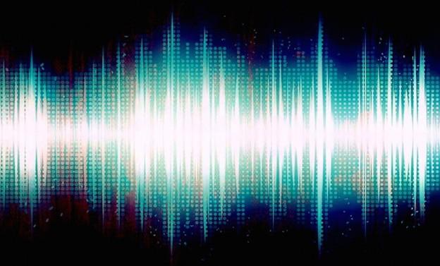 Art shot of audio waves