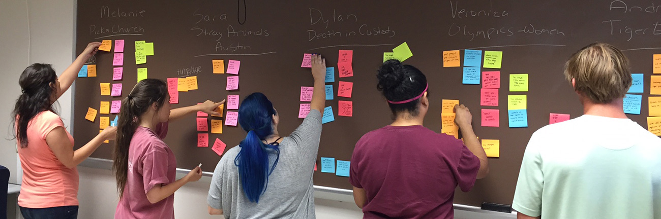 Texas State students use design thinking techniques.