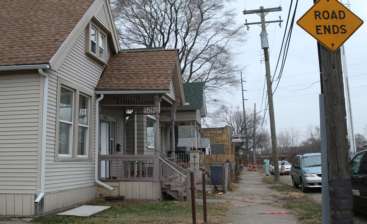 The home of a recently resettled Syrian refugee family in Hamtramck, Michigan. Photo by Kanyakrit Vongkiatkajorn.